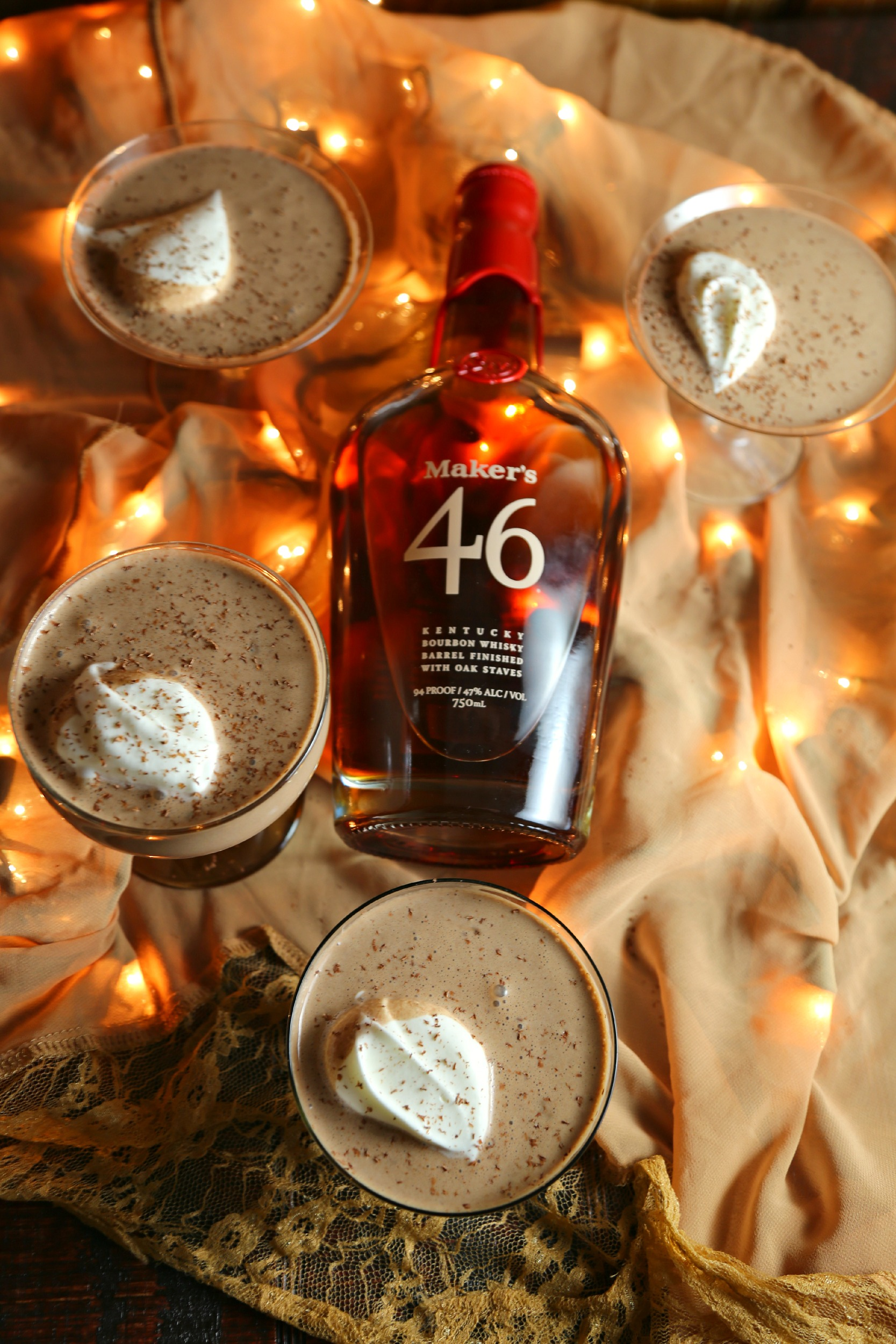 Mexican Chocolate Eggnog with Bourbon Whipped Cream ...