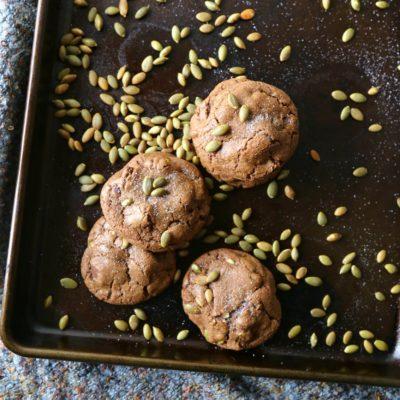 Chocolate Chunk–Pumpkin Seed Cookies