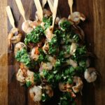 Grilled Shrimp with Cilantro-Lemon Salsa Verde