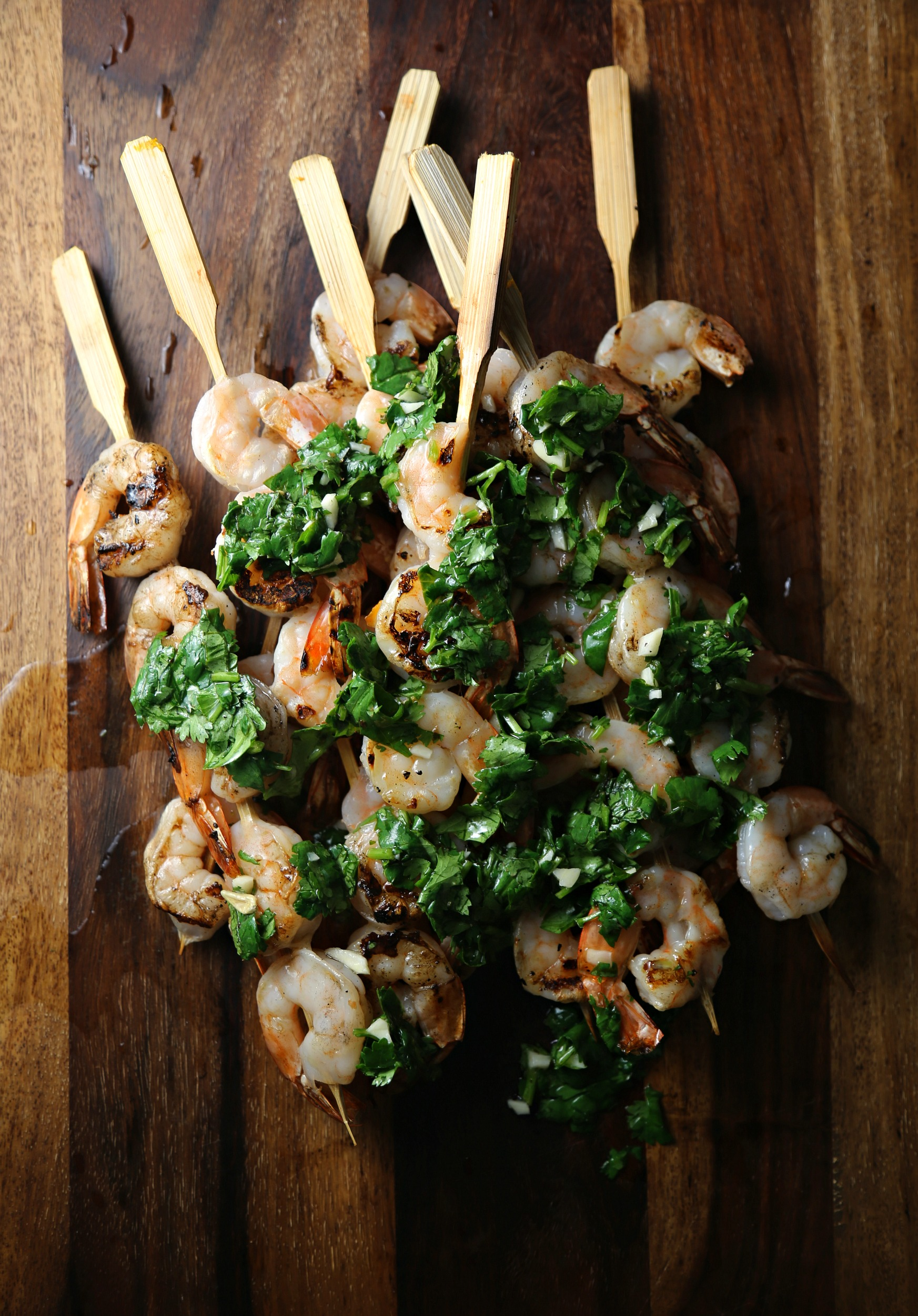 Grilled Shrimp with Cilantro-Lemon Salsa VerdeSweet Life