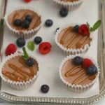 Mini Mexican Chocolate Cheesecakes with Fresh Berries