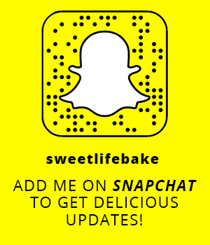 Sweetlifebake on Snapchat