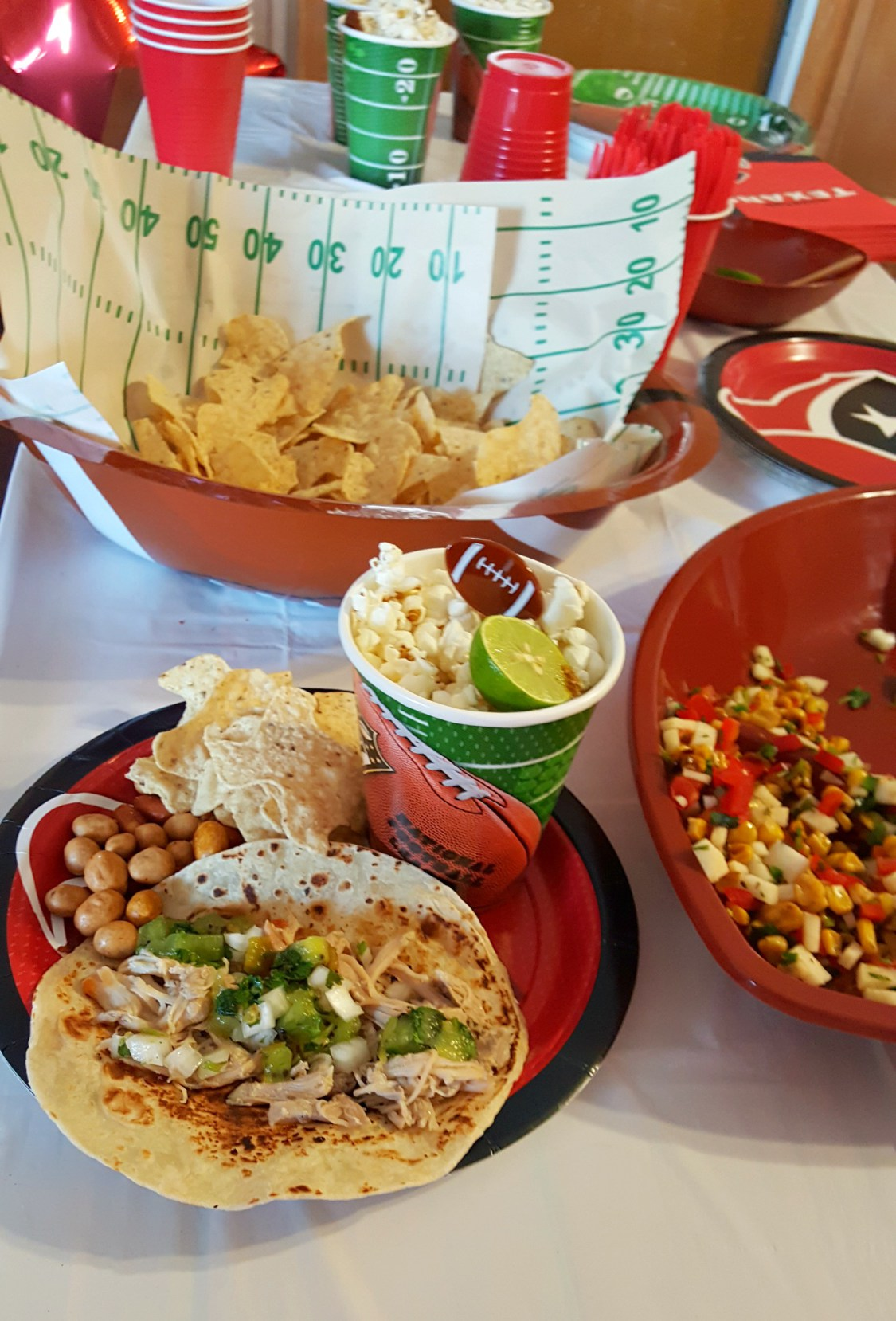 How to Set Up a Taco Bar for Your Next Football Party   Sweet Life