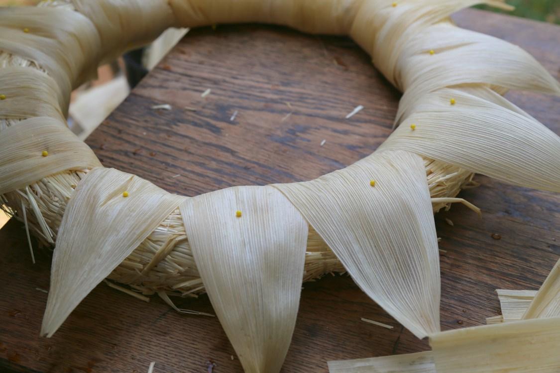 How To Make A Corn Husk Wreath Sweet Life