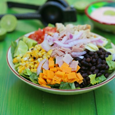Tex-Mex Chopped Salad with Chipotle Dressing