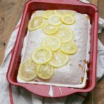 Texas Lemon Sheet Cake with Lemon Yogurt Glaze