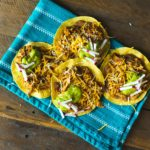 Chicken Enchilada Tostadas