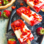 Strawberry Vanilla Paletas