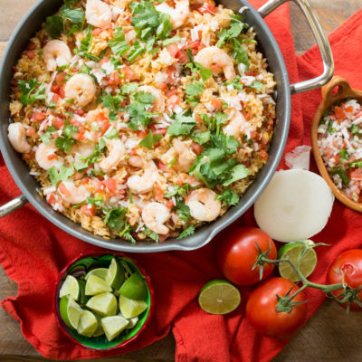 Shrimp Pico Rice Skillet