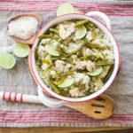 Nopalitos con Arroz y Pollo {Easy Nopales with Rice & Chicken Recipe}