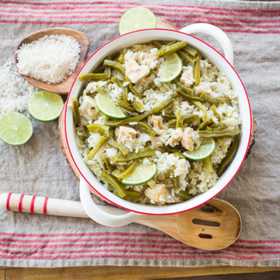 Nopalitos con Arroz y Pollo {Easy Nopales with Rice & Chicken Recipe}