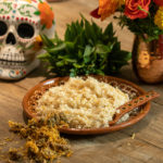 Creamy Marigold Rice {Day of the Dead}