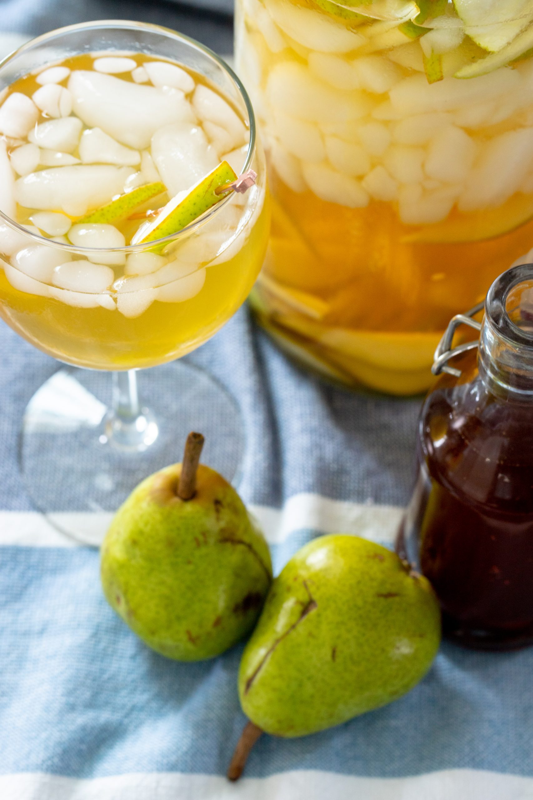 Easy Piloncillo Pear Sangria