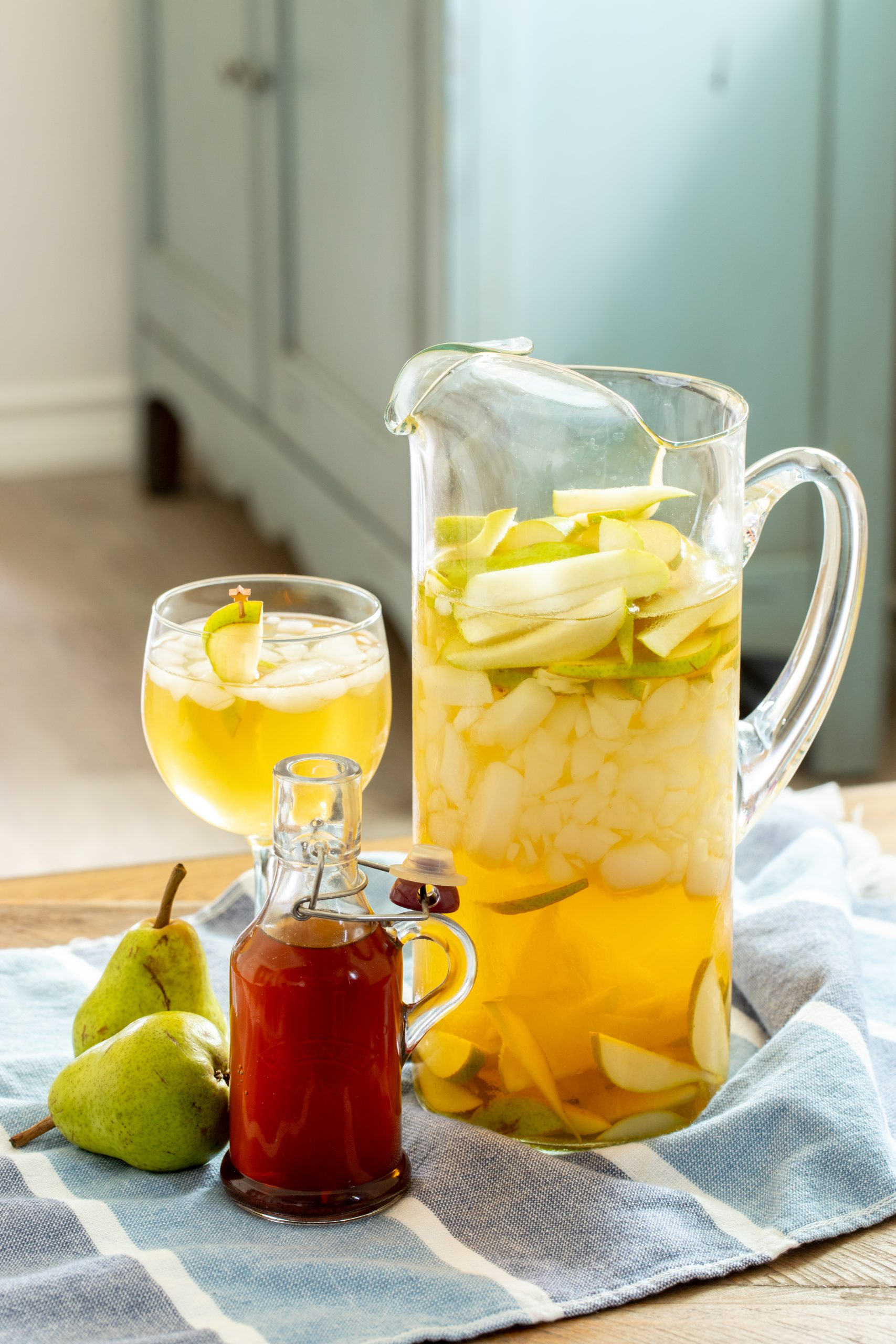 Pitcher Style Piloncillo Pear Sangria