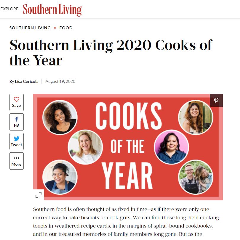 southern living cooks of the year