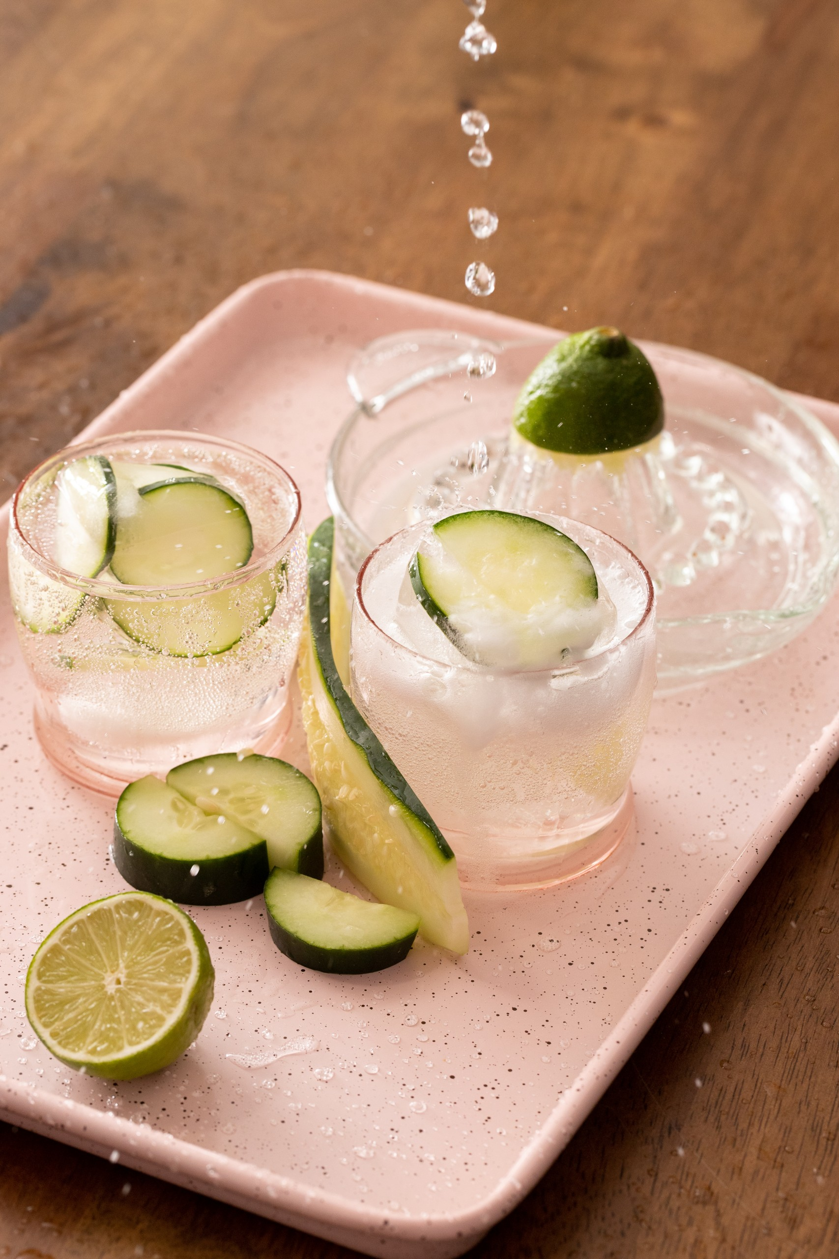 Cucumber Tequila and Tonic Cocktail