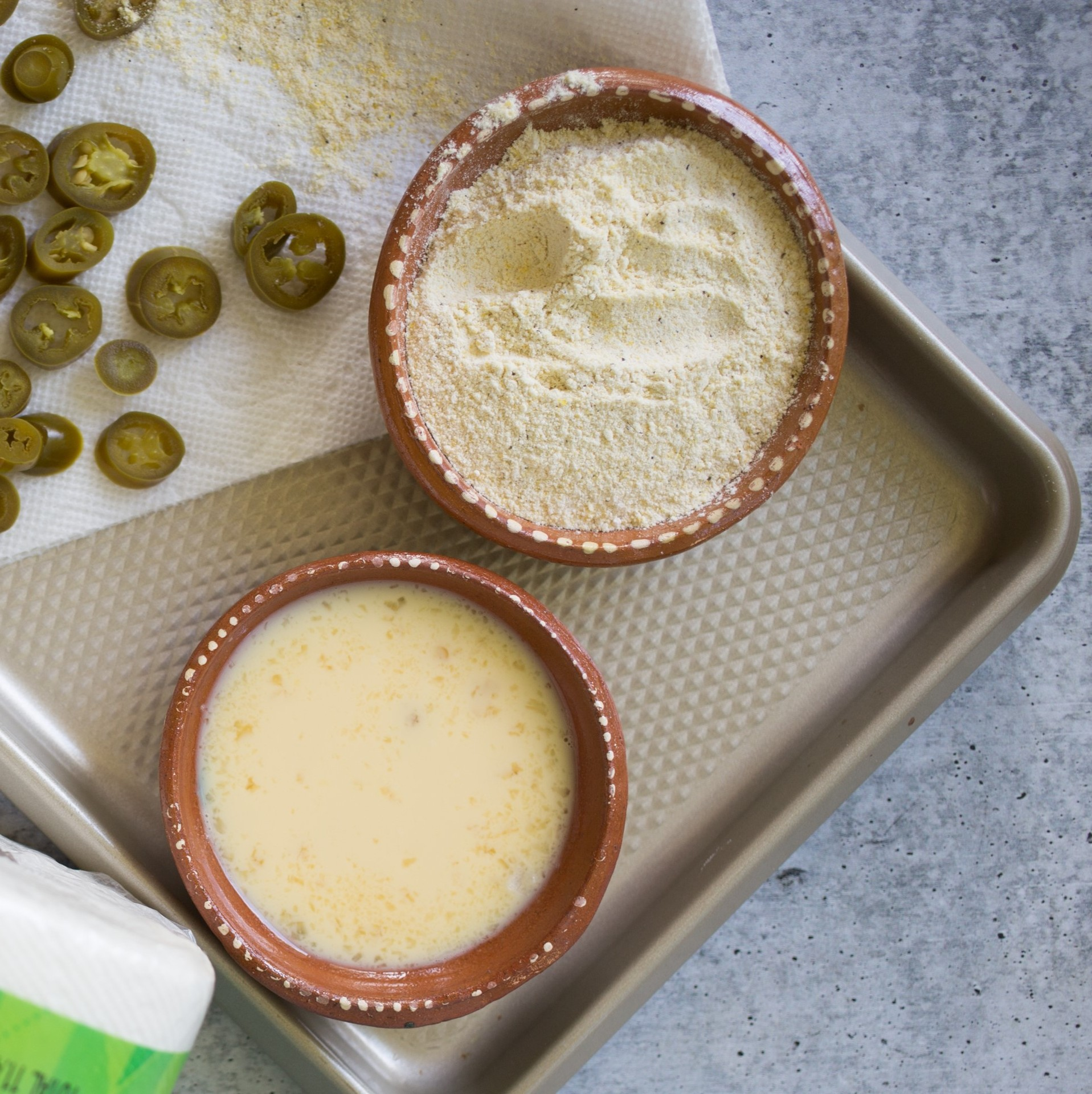 egg and milk mixture for fried jalapenos