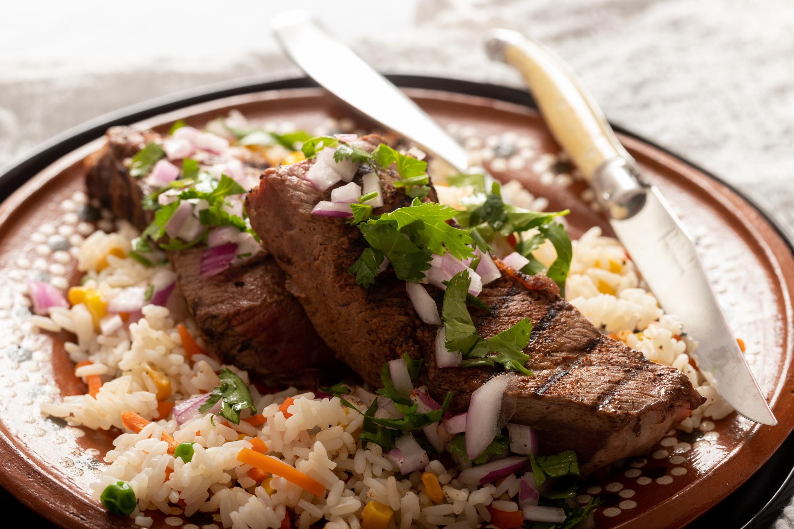 pasilla short ribs with rice