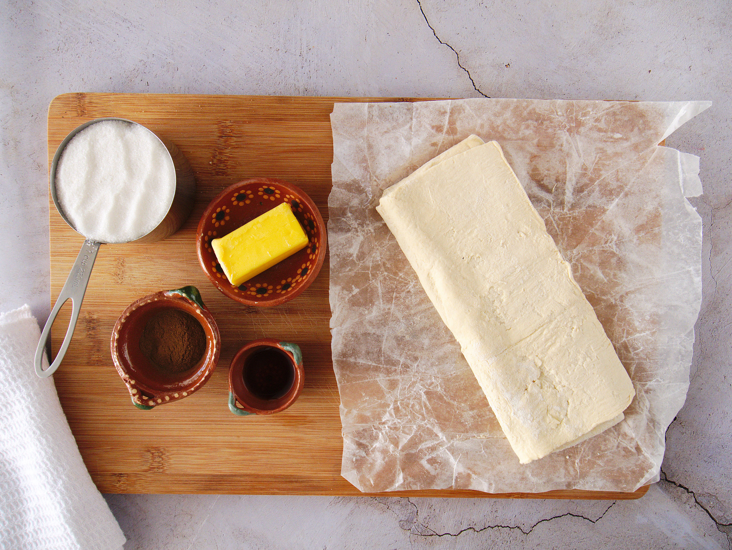 ingredients needed to make baked churros