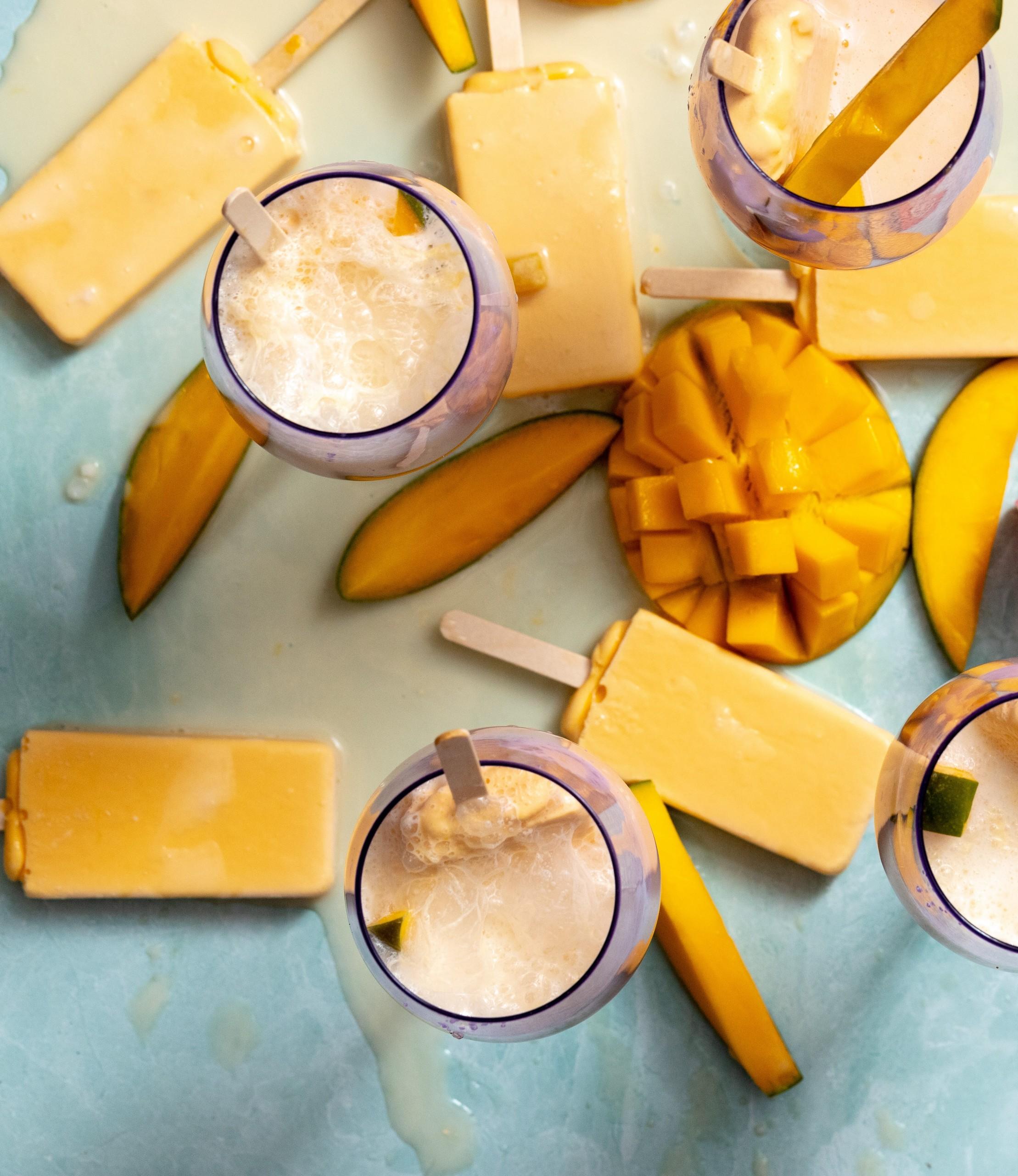 easy Mango Coconut Paleta Mocktails