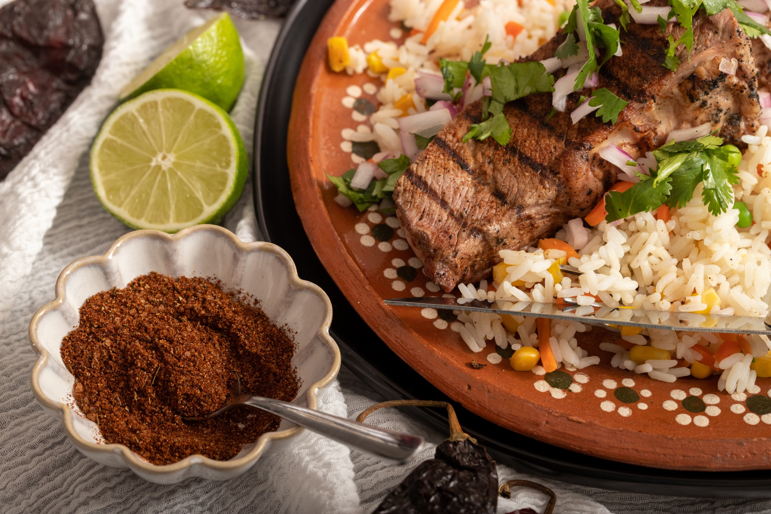 how to make a pasilla dry rub for grilling