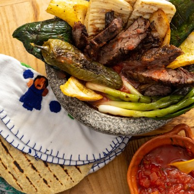 Beef Molcajete {with Veggies} Made on the Grill