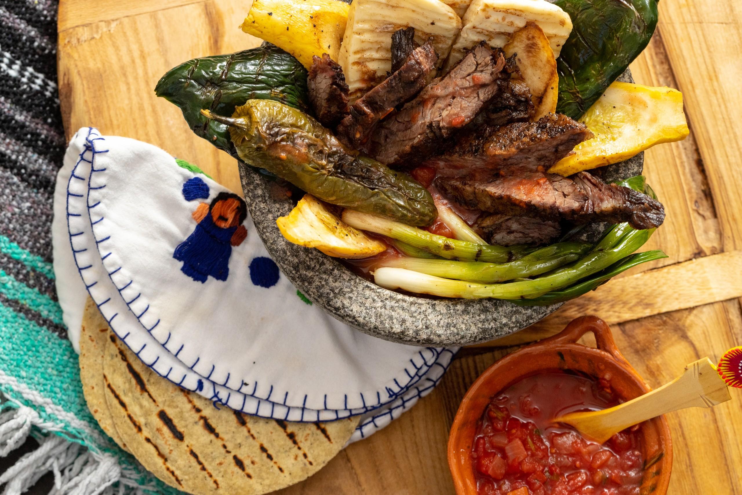 Beef Molcajete recipe on grill