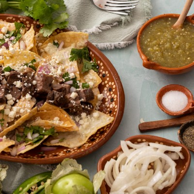 Carne Asada Chilaquiles Verdes {Tips and Tricks!}