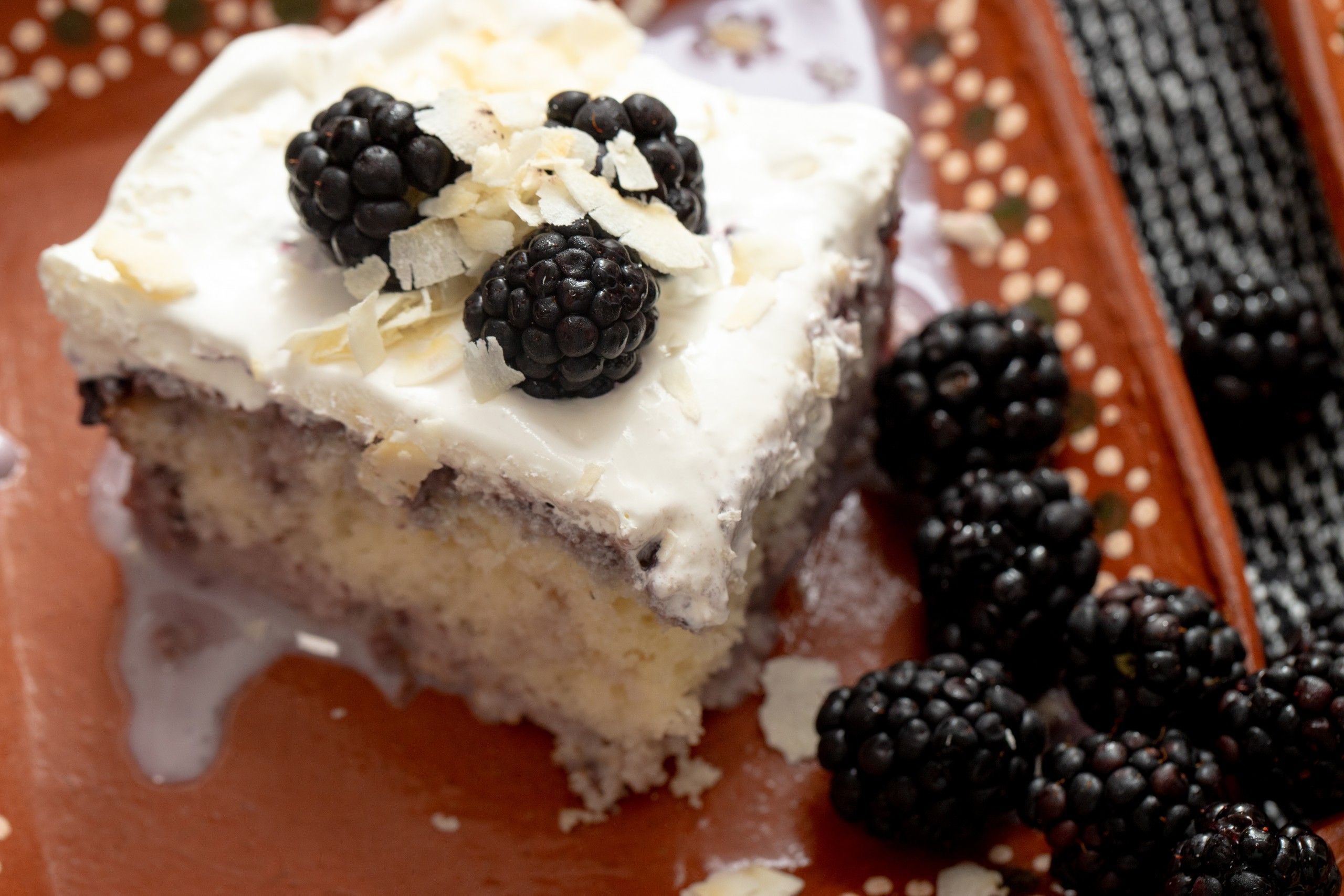 Tres Leches made with a box cake mix