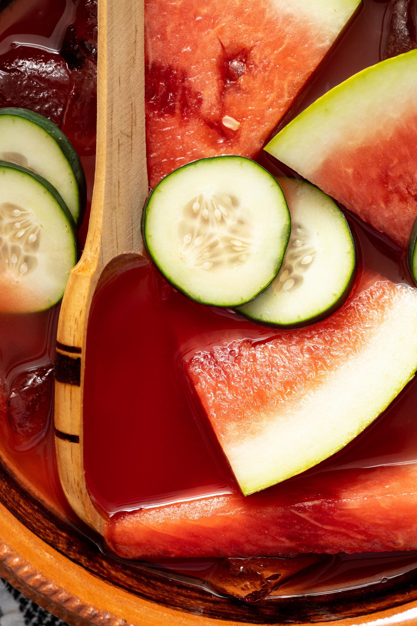 Watermelon Cucumber Margarita {Cazuela Cocktail}