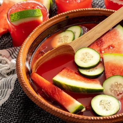 Watermelon Cucumber Margarita Cazuela Cocktail