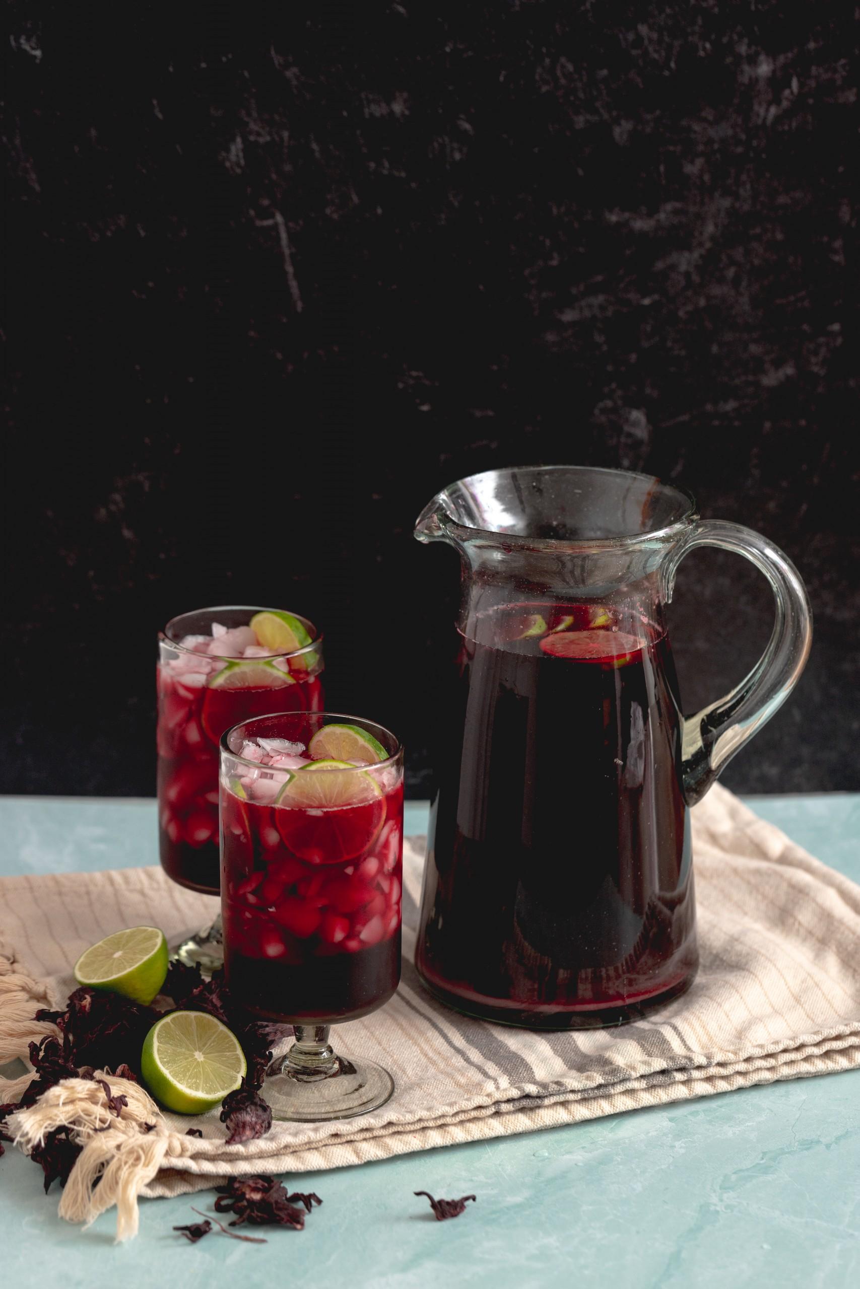 how to make Hibiscus Limeade