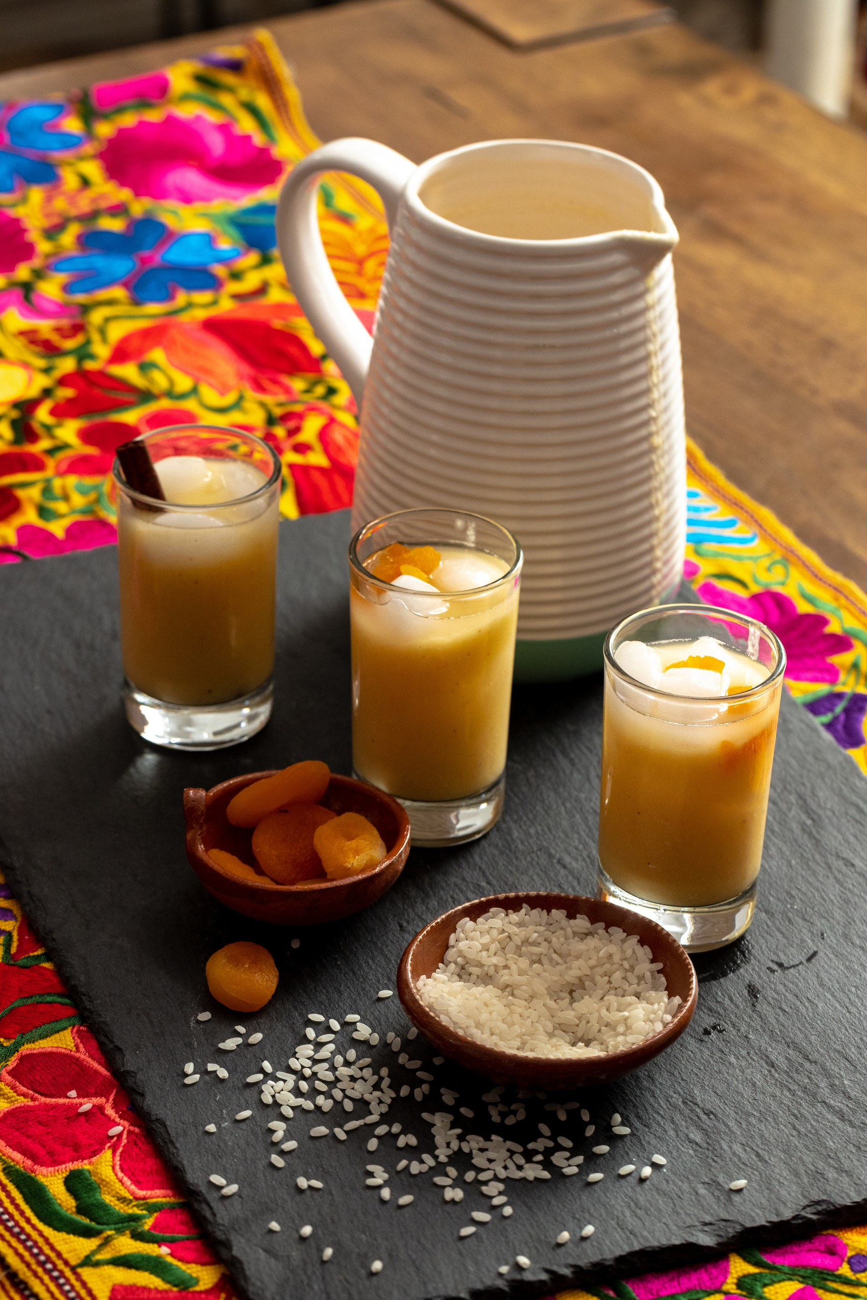 apricot horchata made with dried apricots