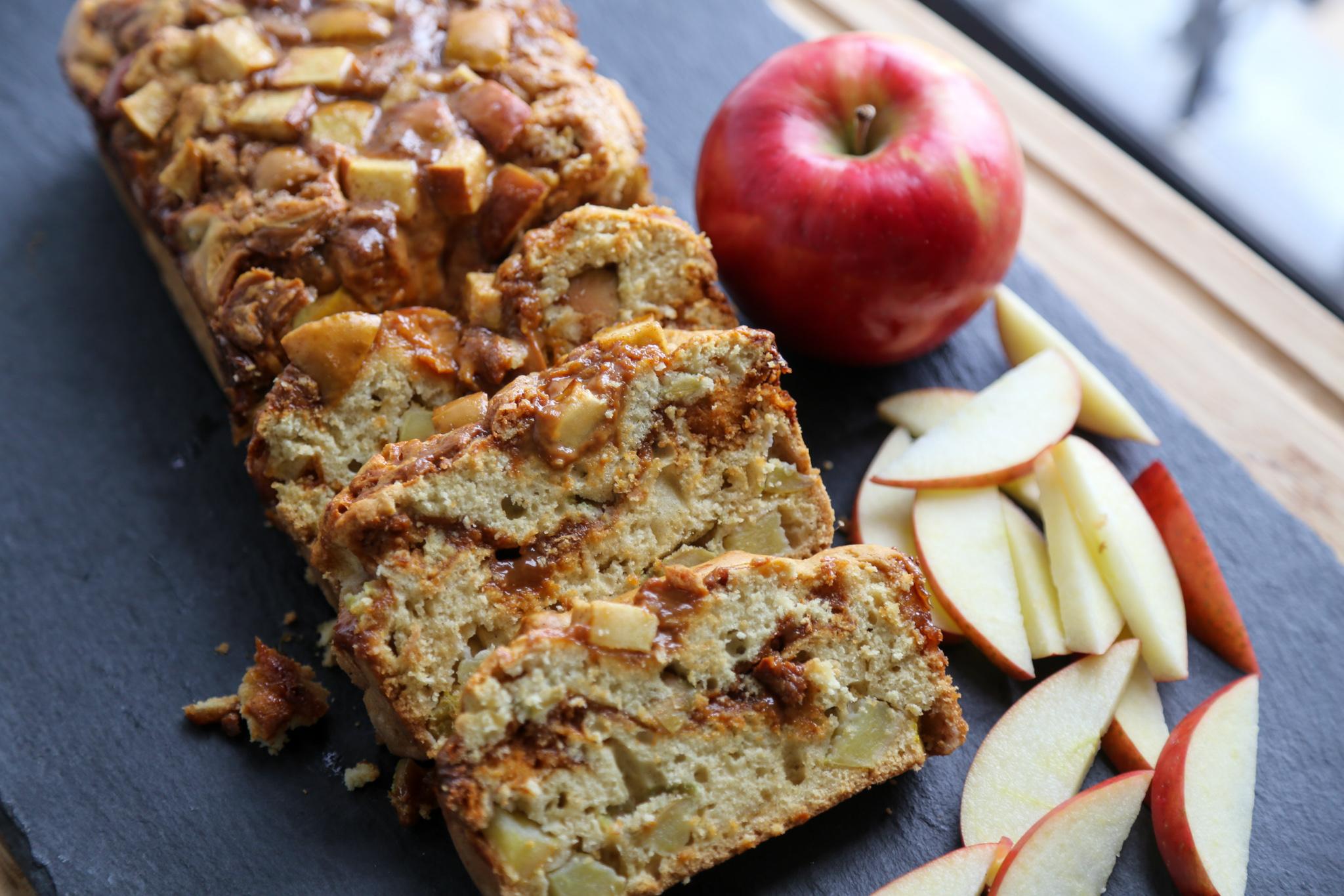 dulce de leche apple bread quick bread